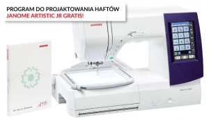 MASZYNO-HAFCIARKA JANOME MC9850 +  program Janome Artistic Digitizer JR